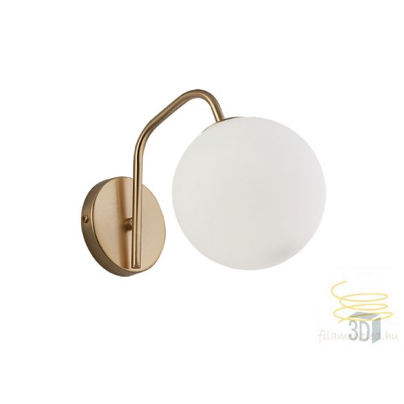Viokef Wall Light Curved Arm Globe 3094600