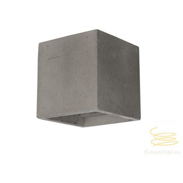 Viokef Wall lamp grey cube Ceramic 4096901