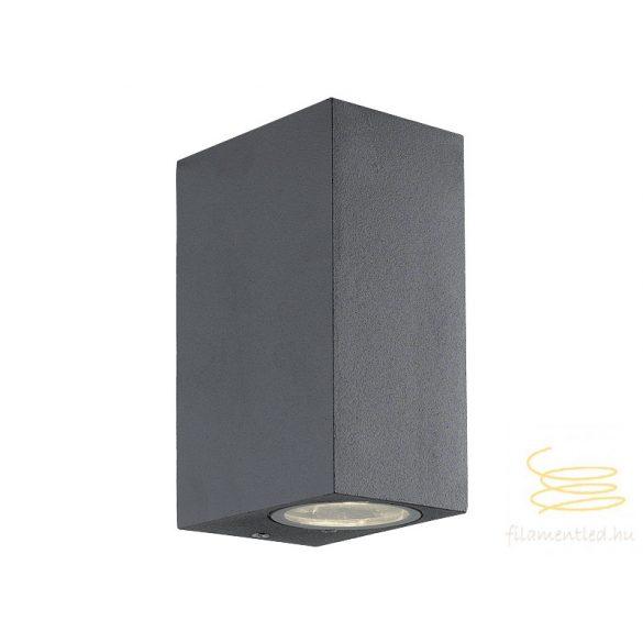 Viokef 2L wall lamp dark gray SQ H:150 Tilos 4099400