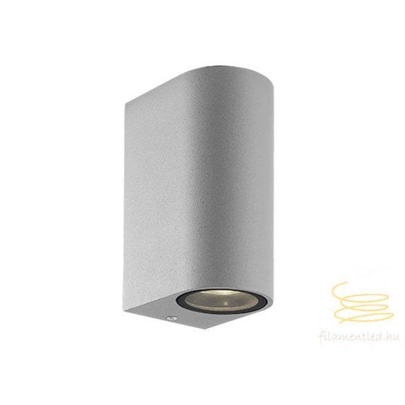 Viokef 2L wall lamp silver round H:150 Tilos 4099602
