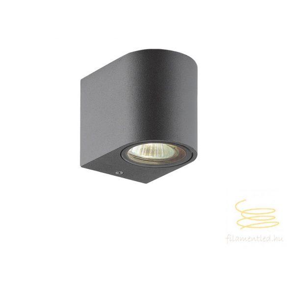 Viokef Wall lamp dark gray round H:80 Tilos 4099700