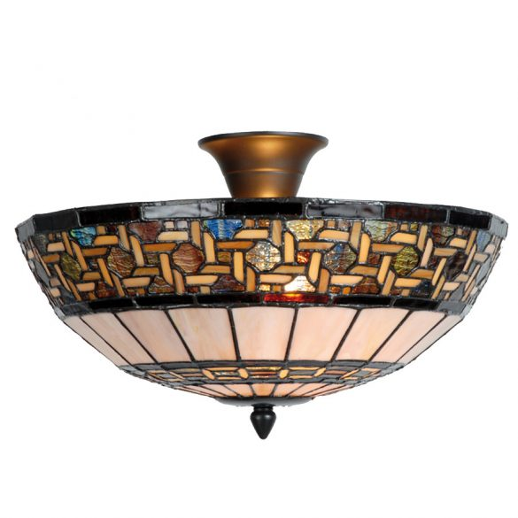 Filamentled Stretford Tiffany mennyezeti lámpa FIL5LL-5604