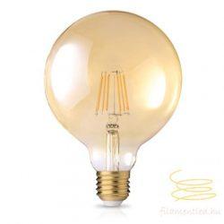 8W 2200K E27 G125 FILAMENT LED